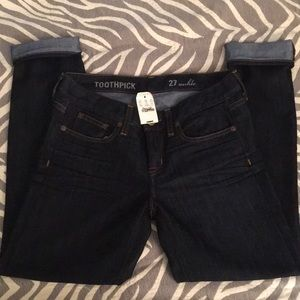 🌷SALE🌷J. Crew 27 toothpick ankle jeans, NWT